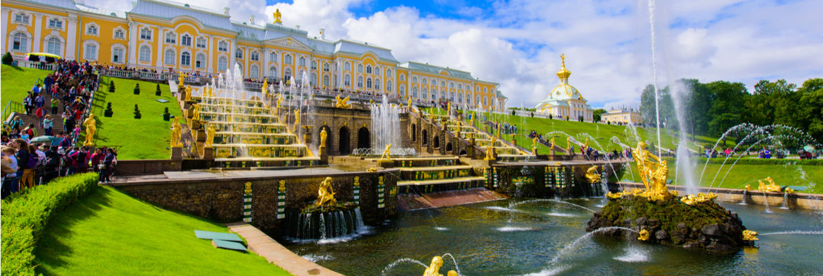 русские гиды в Петергофе