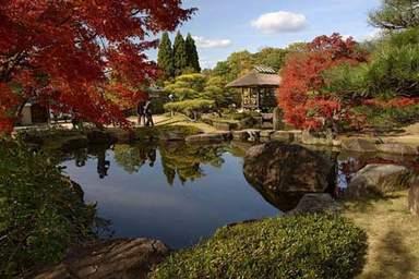 Японский сад рядом с замком Химедзи