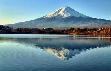 Вид на гору Фудзи