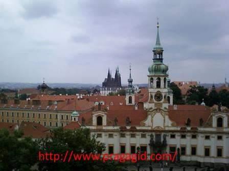 Лорета. Вид из МИДа Чехии - дворца Черниных.