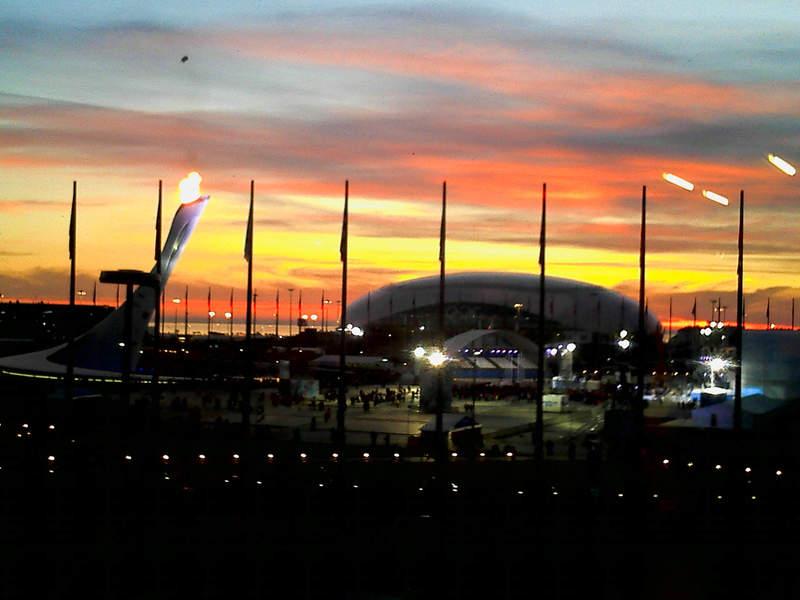 Ночная панорама Олимпийского парка