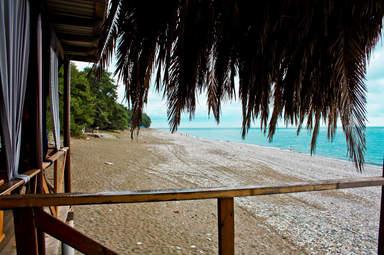 Участок пляжа
