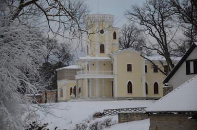 Усадьба Фалль зимой