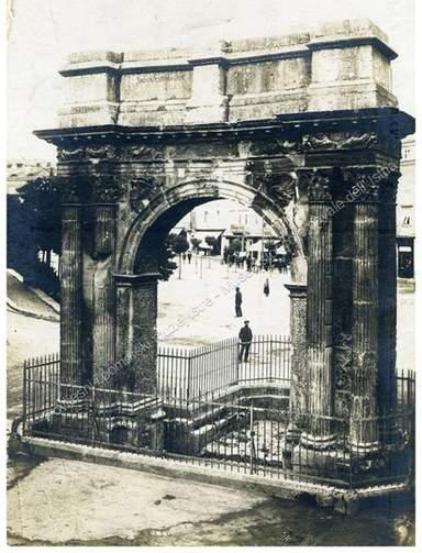 Триумфальная арка- старая открытка