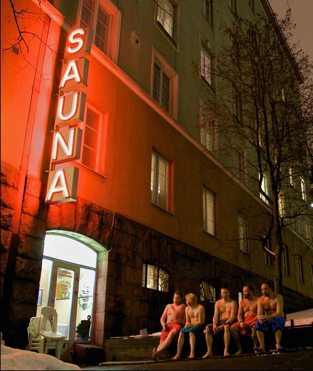 Финская сауна в Хельсинки