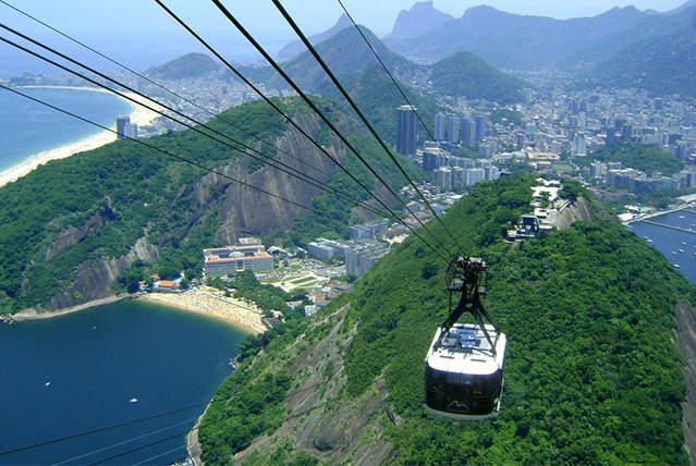 Рио де Жанейро с высоты фуникулера