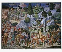 Фреска Беноццо Гоццоли «Шествие волхвов в Вифлеем»