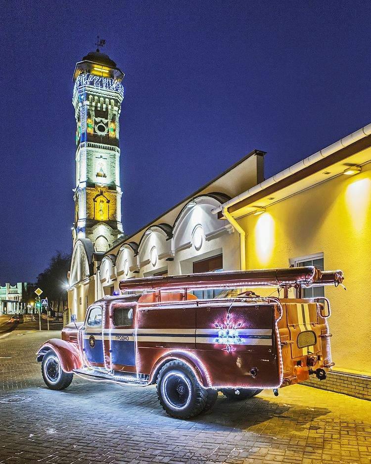 Пожарканая каланча и пожарное депо