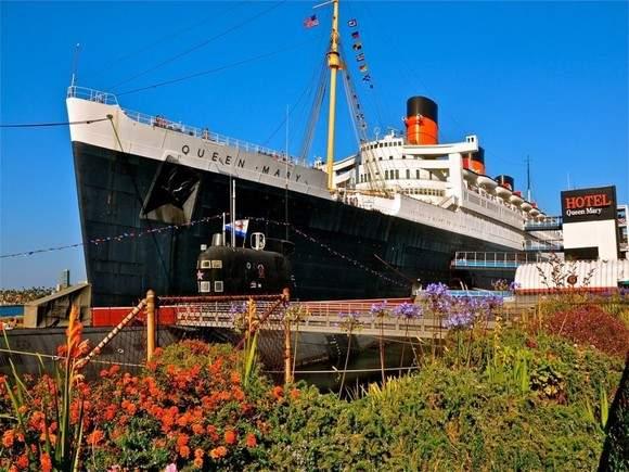 """Отель - корабль """"Куин Мэри"""" на вечной стоянке в Лонг-Бич"""