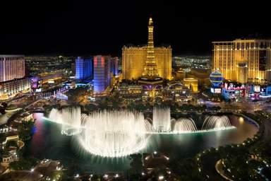 Фонтан Белладжио в Лас-Вегасе
