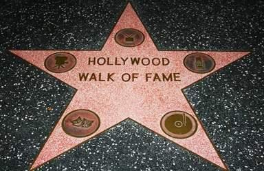 Звезда на Аллее Славы в Голливуде