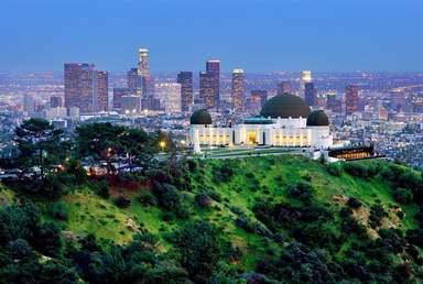 Знаменитая обсерватория Гриффита в Лос-Анджелесе