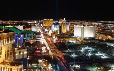 Панорамный вид развлекательной столицы Лас-Вегаса