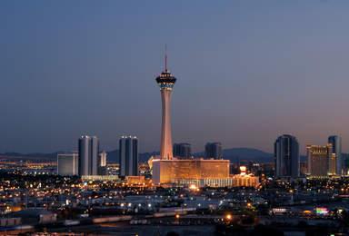 Обзорная башня отеля - казино Стратосфера в Лас-Вегасе
