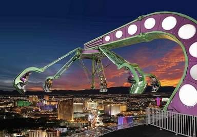 """Высотный аттракцион в башне """"Стратосфера"""" в Лас-Вегасе"""