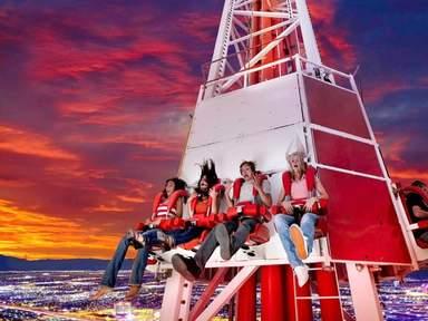 """Аттракцион на высоте 350 метров в башне """"Стратосфера"""""""