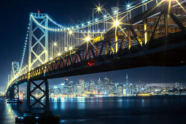 Мост Бэй Бридж в Сан-Франциско