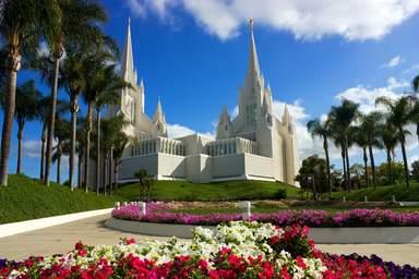 Храм мормонов в парке Бальбоа