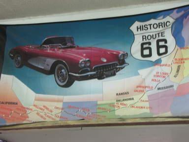 Рекламный плакат Трассы 66