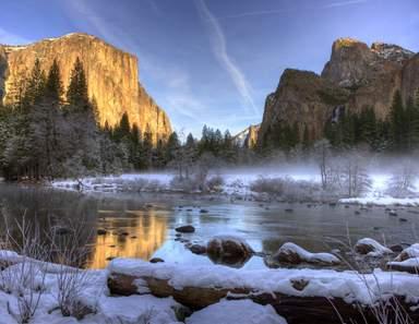 Зимний пейзаж заповедных мест