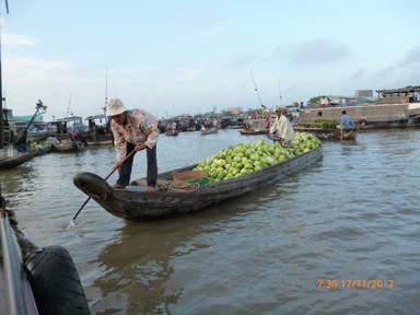 Лодки в дельте реки Меконг