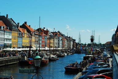 Набережная Nyhavn в Копенгагене