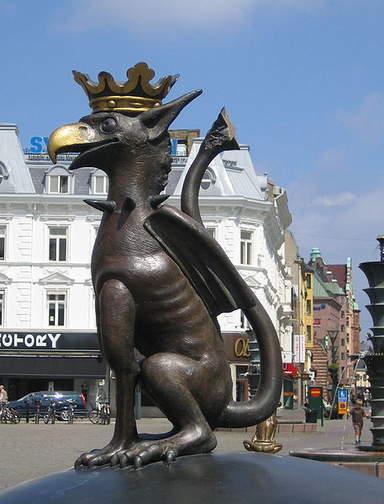 Гриффон - символ города Мальмо