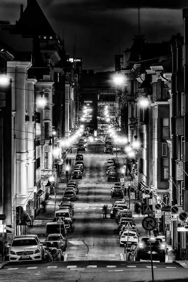 Огни ночного Хельсинки