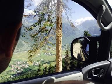 Пейзаж из окна автомобиля