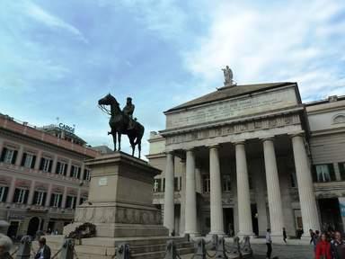 Памятник Джузеппе Гарибальди верхом на коне