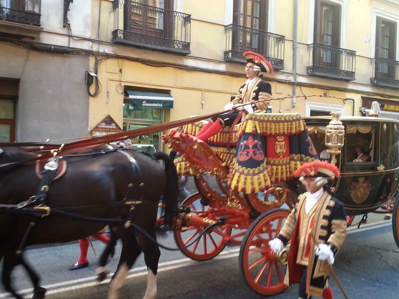 Карета на улицах Мадрида