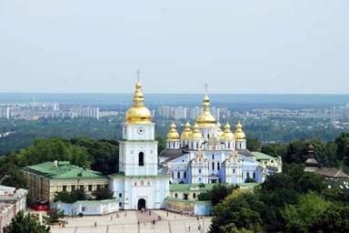 Михайловский златоверхий собор в Киеве.  Обзорная экскурсия по Киеву