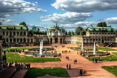 Дворцово - парковый ансамбль в Дрездене