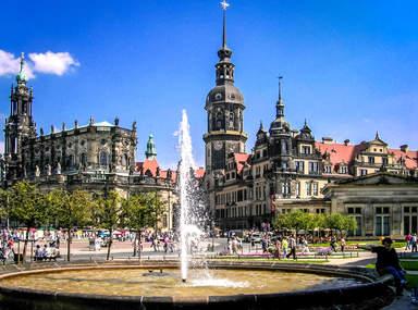 Театральная площадь Дрездена и Кафедральный собор