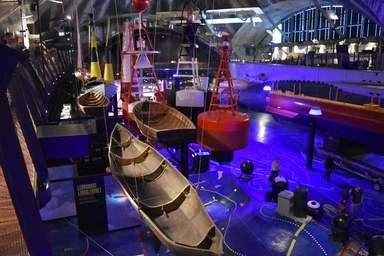 "Лодки в музее ""Летная гавань"""