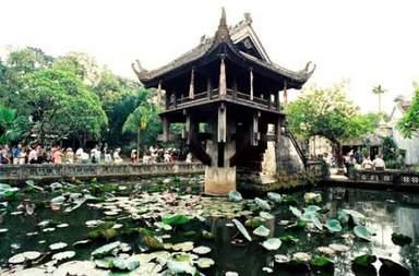 Пагода на одном столбе Чуа Мот Кот в Ханое
