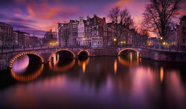 Амстердам - город мостов и каналов