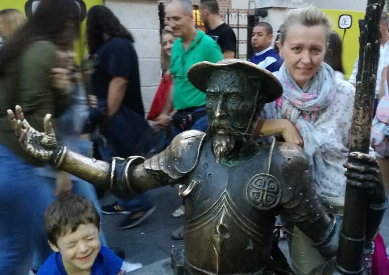 Статуи Дон Кихота и Санчо Пансы