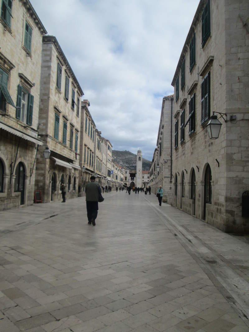 Улица Страдун в городе Дубровник