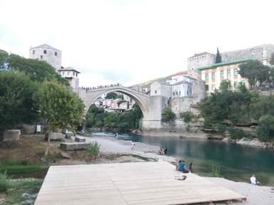 Вид города Мостара