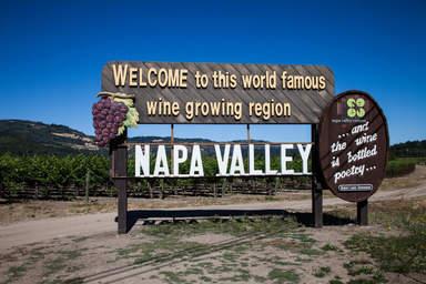 Рекламный щит в Долине Напа
