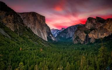 Гора Эль-Капитан в парке Йосемити
