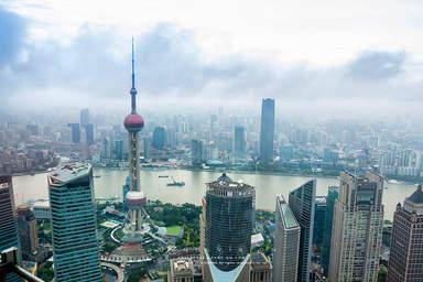 Панорамный вид Шанхая