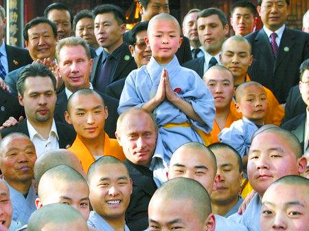 В.В. Путин в Шаолиньском монастыре