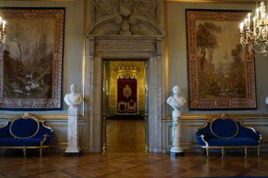 Кристиансборг. Вид на тронный зал