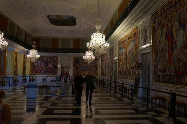 Кристиансборг. Большой зал для приемов, украшенный гобеленами