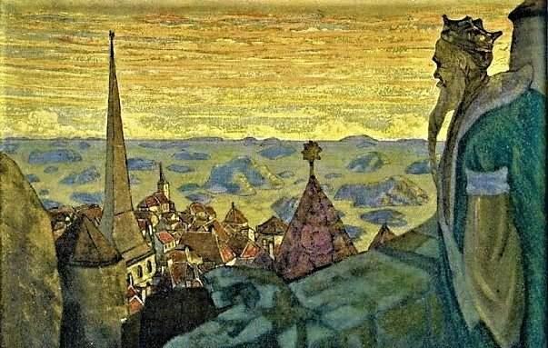 """""""Старый король"""". Н. Рерих, 1910 год"""
