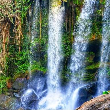 Водопад на плато Пном Кулен