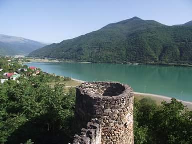 Вид с Ананурской крепости