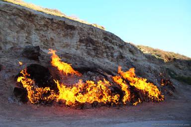 Янардаг - огненная гора